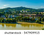 riverside of danube with the... | Shutterstock . vector #547909915