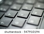 the keyboard of the laptop.... | Shutterstock . vector #547910194