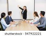 female business speaker... | Shutterstock . vector #547922221