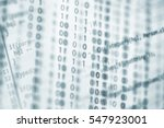digital binary data on computer ... | Shutterstock . vector #547923001