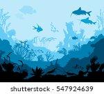 ocean underwater world with... | Shutterstock .eps vector #547924639