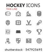 simple modern set of hockey... | Shutterstock .eps vector #547925695