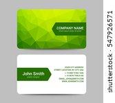 modern business card template | Shutterstock .eps vector #547926571