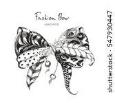 vector bow of tiger skin ... | Shutterstock .eps vector #547930447