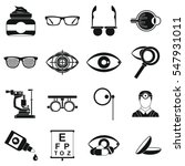 ophthalmologist tools icons set.... | Shutterstock . vector #547931011