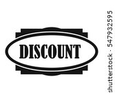 discount oval label icon.... | Shutterstock . vector #547932595