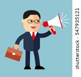cartoon businessman with a... | Shutterstock .eps vector #547935121
