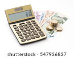 turkish lira banknotes and... | Shutterstock . vector #547936837