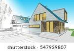 townhouse  3d illustration | Shutterstock . vector #547939807