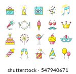 party icons. celebration ... | Shutterstock . vector #547940671