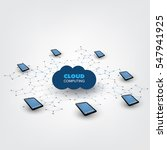 cloud computing design concept... | Shutterstock .eps vector #547941925