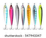 Fishing Lures Set. Realistic...