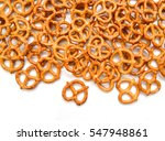 crispy pretzels on white... | Shutterstock . vector #547948861