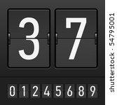set of figures on a mechanical... | Shutterstock .eps vector #54795001