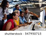 casual business team working on ...   Shutterstock . vector #547950715