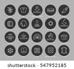 fabric feature line icons set... | Shutterstock .eps vector #547952185