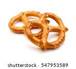 crispy pretzels on white... | Shutterstock . vector #547953589