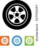 car wheel and tire icon | Shutterstock .eps vector #547955497