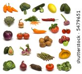 large page of vegetables and... | Shutterstock . vector #5479651