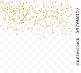 golden confetti falling on...   Shutterstock .eps vector #547968157