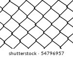 black wire fence | Shutterstock . vector #54796957