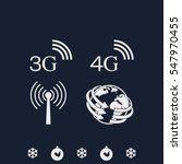 3g  4g symbols. mobile... | Shutterstock .eps vector #547970455
