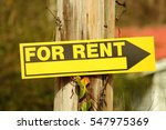 Yellow And Black For Rent Sign