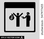 arrest calendar page icon.... | Shutterstock .eps vector #547977655