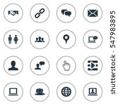 set of 16 simple internet icons.... | Shutterstock .eps vector #547983895