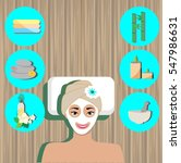 spa design elements human icon... | Shutterstock .eps vector #547986631