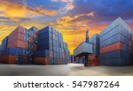 industrial container yard with... | Shutterstock . vector #547987264