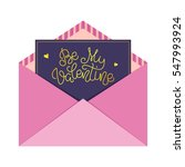 be my valentine  letter in the... | Shutterstock .eps vector #547993924