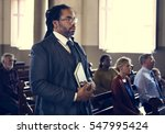 church people believe faith... | Shutterstock . vector #547995424