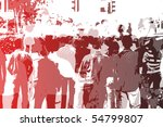 crowd abstract background in...   Shutterstock . vector #54799807