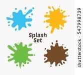paint splat set.paint splashes... | Shutterstock .eps vector #547998739