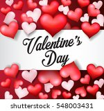 happy valentine's day red heart | Shutterstock . vector #548003431
