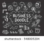 set of business doodle on...   Shutterstock .eps vector #548005204