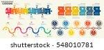 timeline infographics design... | Shutterstock .eps vector #548010781