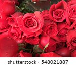 Stock photo heap of red roses in a retail market for sell 548021887