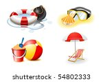 vacation and travel icons | Shutterstock .eps vector #54802333