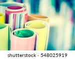 close up edge of colorful... | Shutterstock . vector #548025919