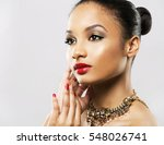 upscale indian woman wearing... | Shutterstock . vector #548026741