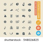 strategy and business icon set ... | Shutterstock .eps vector #548026825