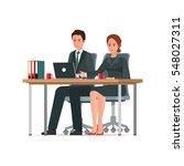 office people work in office ...   Shutterstock .eps vector #548027311