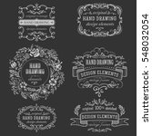 hand drawing vintage frame | Shutterstock .eps vector #548032054