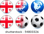 georgia flag button with global ... | Shutterstock .eps vector #54803326