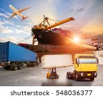 logistics and transportation of ... | Shutterstock . vector #548036377