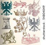 heraldic set | Shutterstock .eps vector #54804049
