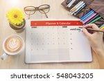 business calender planner...   Shutterstock . vector #548043205