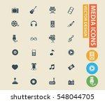media icon set vector | Shutterstock .eps vector #548044705